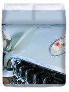 1960 Chevrolet Corvette Hood Emblem Duvet Cover