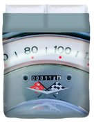 1960 Chevrolet Corvette Speedometer Duvet Cover by Jill Reger