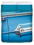 1960 Chevrolet Impala Emblem -340c Duvet Cover