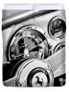 1960 Ferrari 250 Gt Cabriolet Pininfarina Series II Steering Wheel Emblem -1319bw Duvet Cover