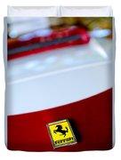 1960 Ferrari 250 Gt Swb Berlinetta Competizione Grille Emblem Duvet Cover by Jill Reger