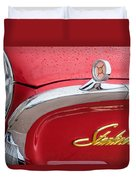 1960 Ford Galaxie Starliner Hood Ornament - Emblem Duvet Cover