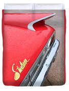 1960 Ford Galaxie Starliner Taillight Emblem Duvet Cover