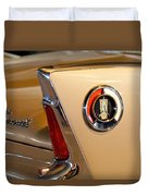 1960 Plymouth Fury Convertible Taillight And Emblem Duvet Cover
