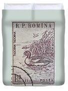 1960 Romanian Common Shelduck Stamp Duvet Cover