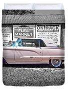 1960 Thunderbird Bw Duvet Cover