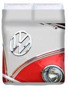 1960 Volkswagen Vw 23 Window Microbus Emblem Duvet Cover by Jill Reger