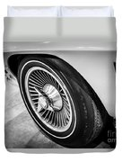 1960's Chevrolet Corvette C2 Spinner Wheel Duvet Cover by Paul Velgos