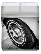 1960's Chevrolet Corvette C2 Spinner Wheel Duvet Cover