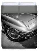 1960's Corvette C2 In Black And White Duvet Cover by Paul Velgos