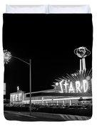 1960s Night Scene Of The Stardust Duvet Cover