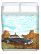 1961 Chevrolet Biscayne 409 In Monument Valley Duvet Cover