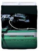 1961 Chevrolet Corvette Engine Duvet Cover