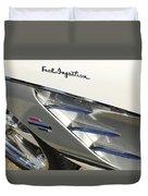 1961 Chevrolet Corvette Side Emblem 3 Duvet Cover