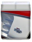 1961 Chevrolet Corvette Side Emblem Duvet Cover