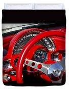 1961 Chevrolet Corvette Steering Wheel 2 Duvet Cover