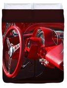 1961 Chevrolet Corvette Steering Wheel Duvet Cover