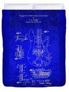 1961 Fender Guitar Duvet Cover