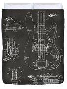1961 Fender Guitar Patent Artwork - Gray Duvet Cover