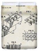1961 Lego Patent Duvet Cover