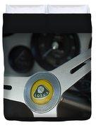 1961 Lotus Elite Series II Coupe Steering Wheel Emblem Duvet Cover