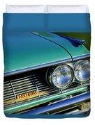 1961 Pontiac Bonneville Grille Emblem Duvet Cover