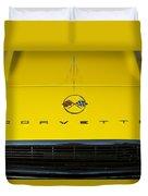 1962 Chevrolet Corvette Convertible Hood Emblem Duvet Cover