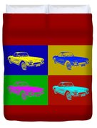 1962 Chevrolet Corvette Convertible Pop Art Duvet Cover