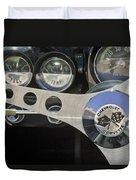 1962 Chevrolet Corvette Convertible Steering Wheel Duvet Cover