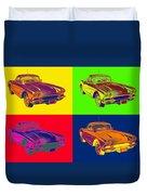 1962 Chevrolet Corvette Pop Art Duvet Cover