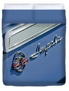 1962 Chevrolet Impala Emblem Duvet Cover