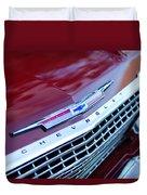 1962 Chevrolet Impala Ss Grille Duvet Cover