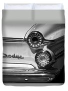 1962 Dodge Dart Taillight Emblem Duvet Cover