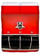 1962 Dodge Polara 500 Emblem Duvet Cover