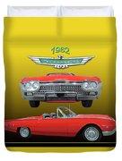 1962 Ford T-bird Sport Duvet Cover