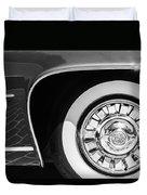 1962 Ghia L6.5 Coupe Wheel Emblem Duvet Cover