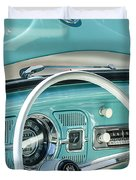 1962 Volkswagen Vw Beetle Cabriolet Steering Wheel Duvet Cover