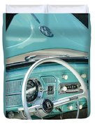 1962 Volkswagen Vw Beetle Cabriolet Steering Wheel Duvet Cover