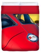 1963 Chevrolet Corvette Convertible Emblem Duvet Cover