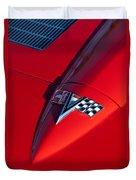 1963 Chevrolet Corvette Hood Emblem Duvet Cover