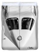 1963 Chevrolet Corvette Split Window -386bw Duvet Cover