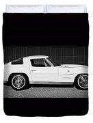 1963 Chevrolet Corvette Split Window -575bw Duvet Cover