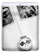 1963 Chevrolet Corvette Split Window Emblem -445bw Duvet Cover