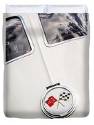 1963 Chevrolet Corvette Split Window Emblem -445c Duvet Cover