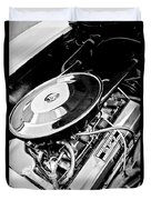 1963 Chevrolet Corvette Split Window Engine -147bw Duvet Cover