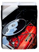 1963 Chevrolet Corvette Split Window Engine -147c Duvet Cover