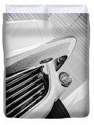 1963 Chevrolet Corvette Split Window Grille -221bw Duvet Cover