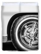 1963 Chevrolet Corvette Split Window Wheel -090bw Duvet Cover