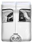 1963 Chevrolet Corvette Split Window Wheel Emblem -118bw Duvet Cover