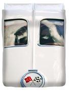 1963 Chevrolet Corvette Split Window Wheel Emblem -118c Duvet Cover